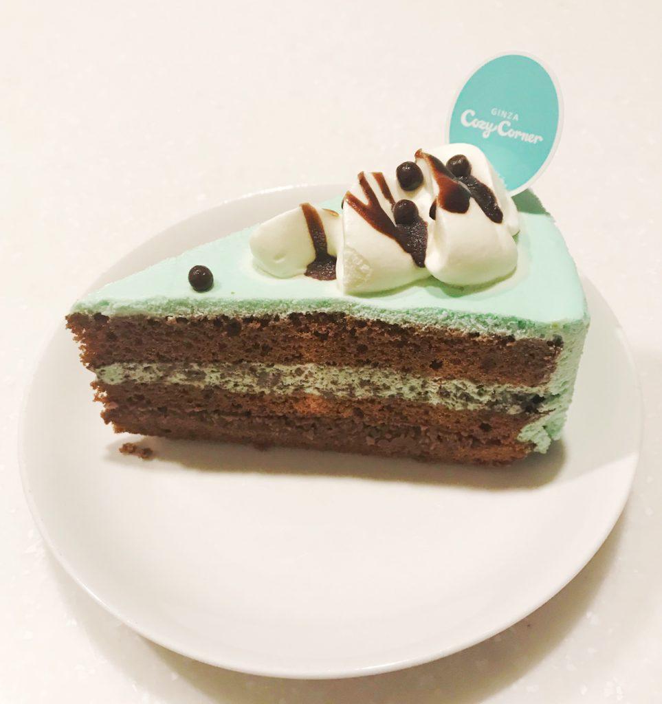 さくさく食感のチョコミントケーキ